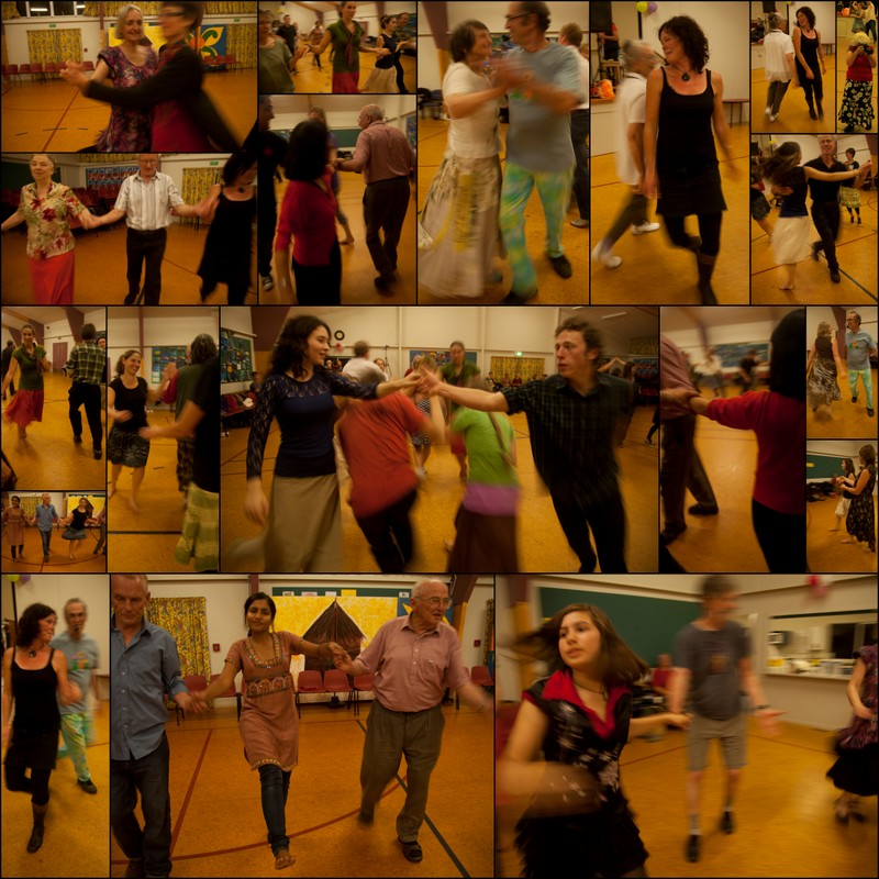 contra dance collage
